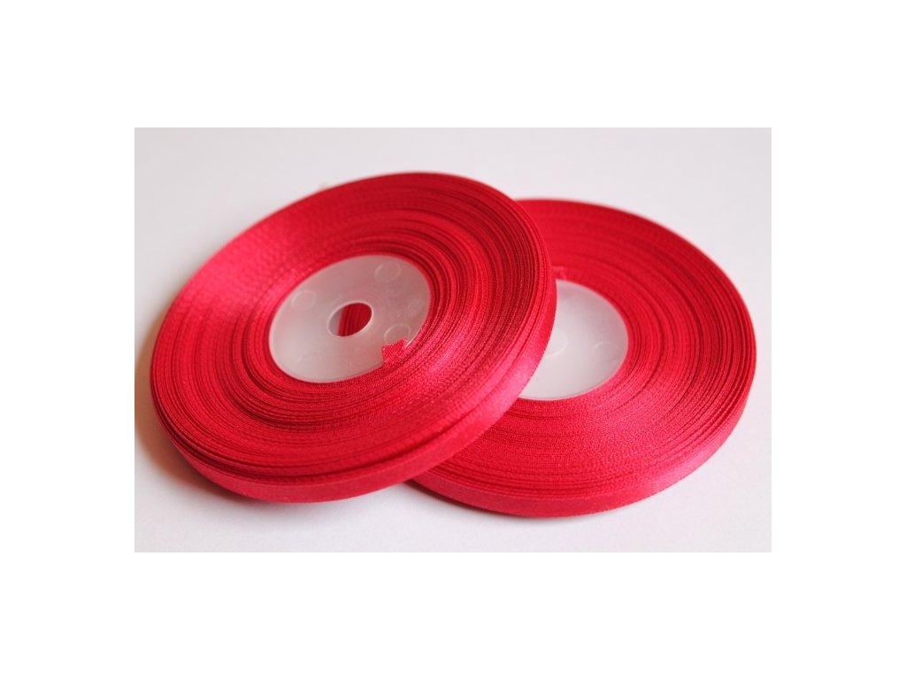 Saténová stuha 6mm A020 tmavá červená