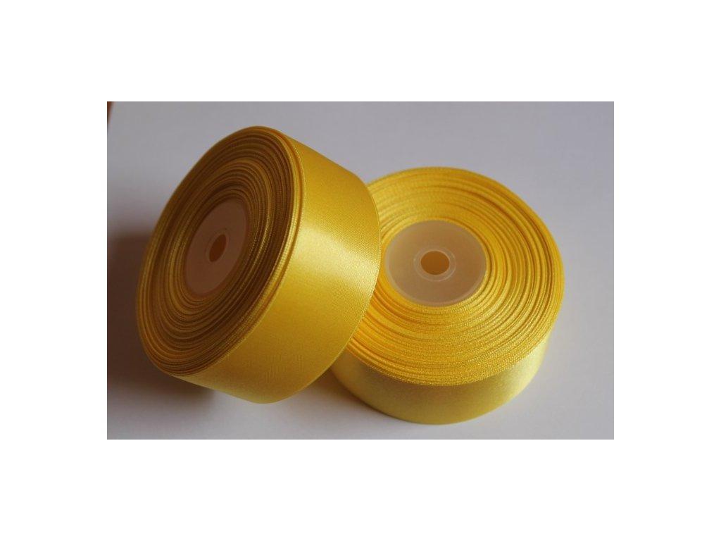 Saténová stuha 38mm A008 žltá