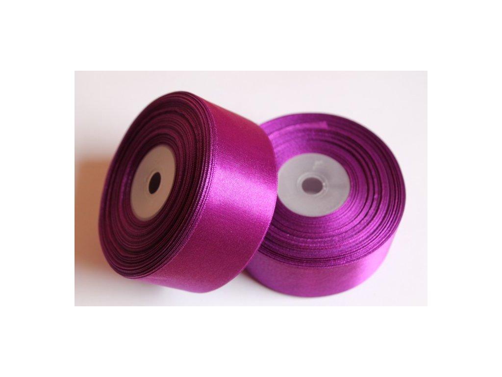 Saténová stuha 38mm A067 tmavá purpurová