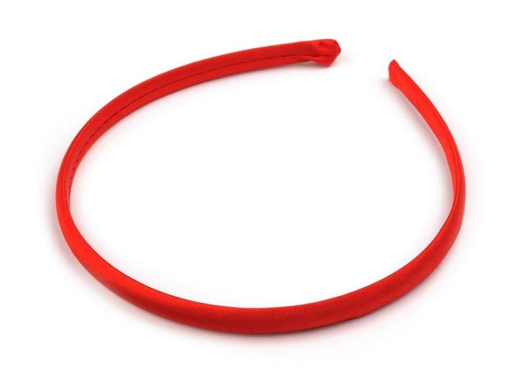 Čelenka saténová 10mm červená