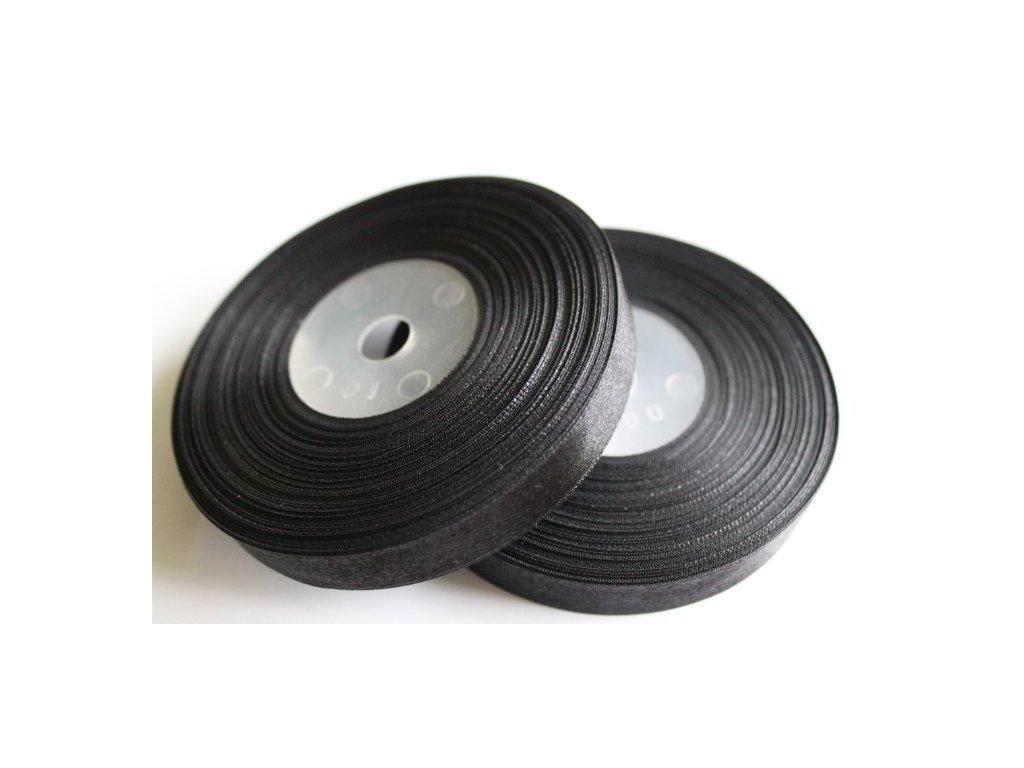 Saténová stuha 12mm A040 čierna