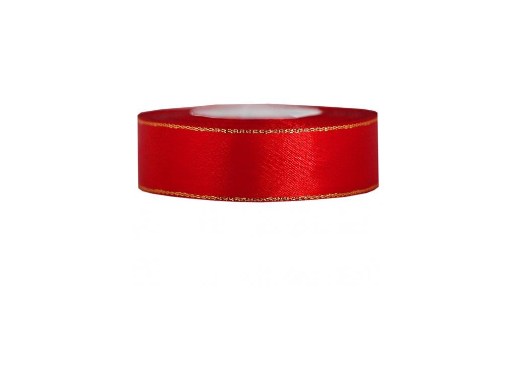wstazka satynowa zp 25mm 27mb czerwona