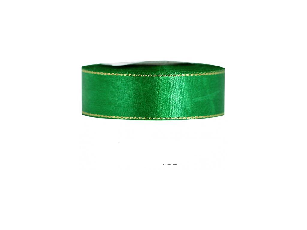 wstazka satynowa zp 25mm 27mb zielona trawa