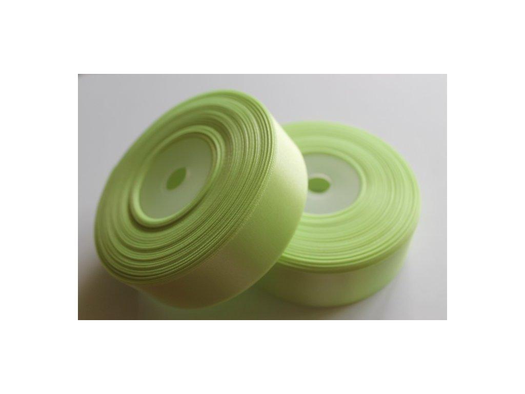Saténová stuha 25mm A023 svetlá zelená