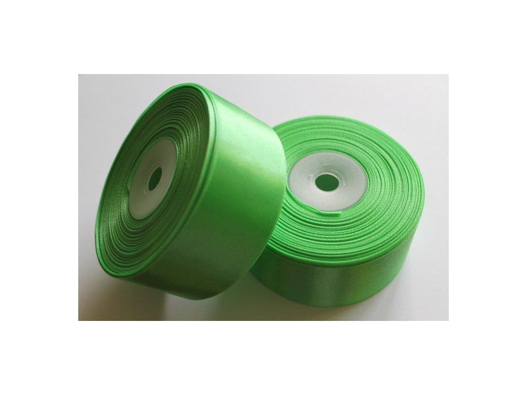 Saténová stuha 38mm A048 limetková zelená