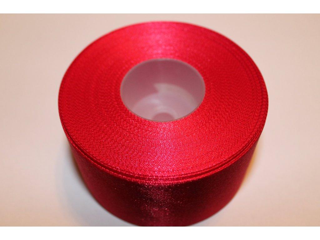 Saténová stuha 50mm A020 tmavá červená