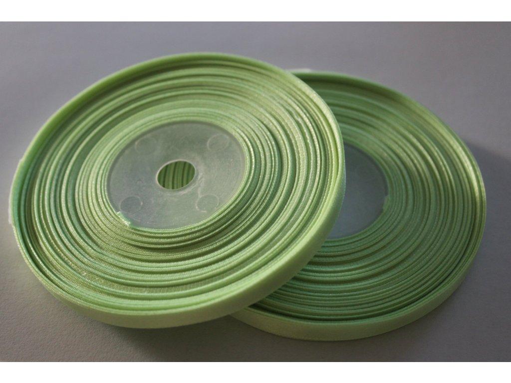 Saténová stuha 6mm A023 svetlá zelená