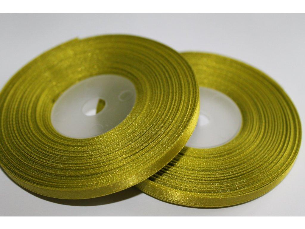 Saténová stuha 6mm A025 žiarivá zelená