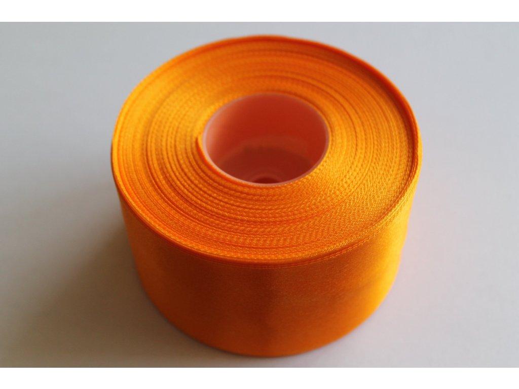 Saténová stuha 50mm A011 svetlá oranžová