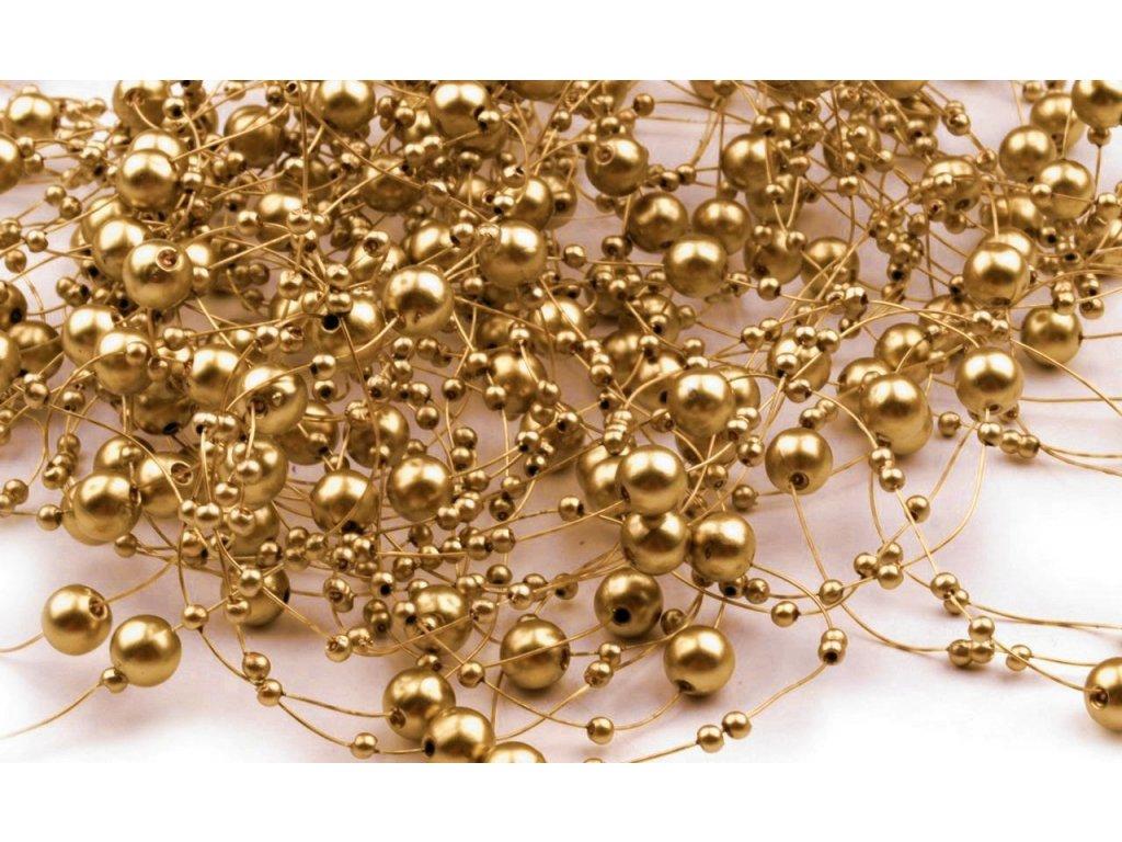 Girlanda 7mm/130cm zlatá