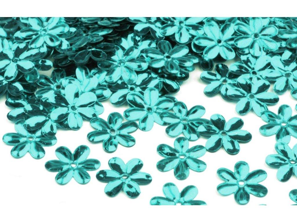 Flitre kvetinky tyrkysové 15mm/5g