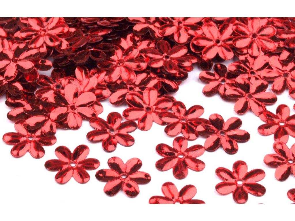 Flitre kvetinky červené 15mm/5g