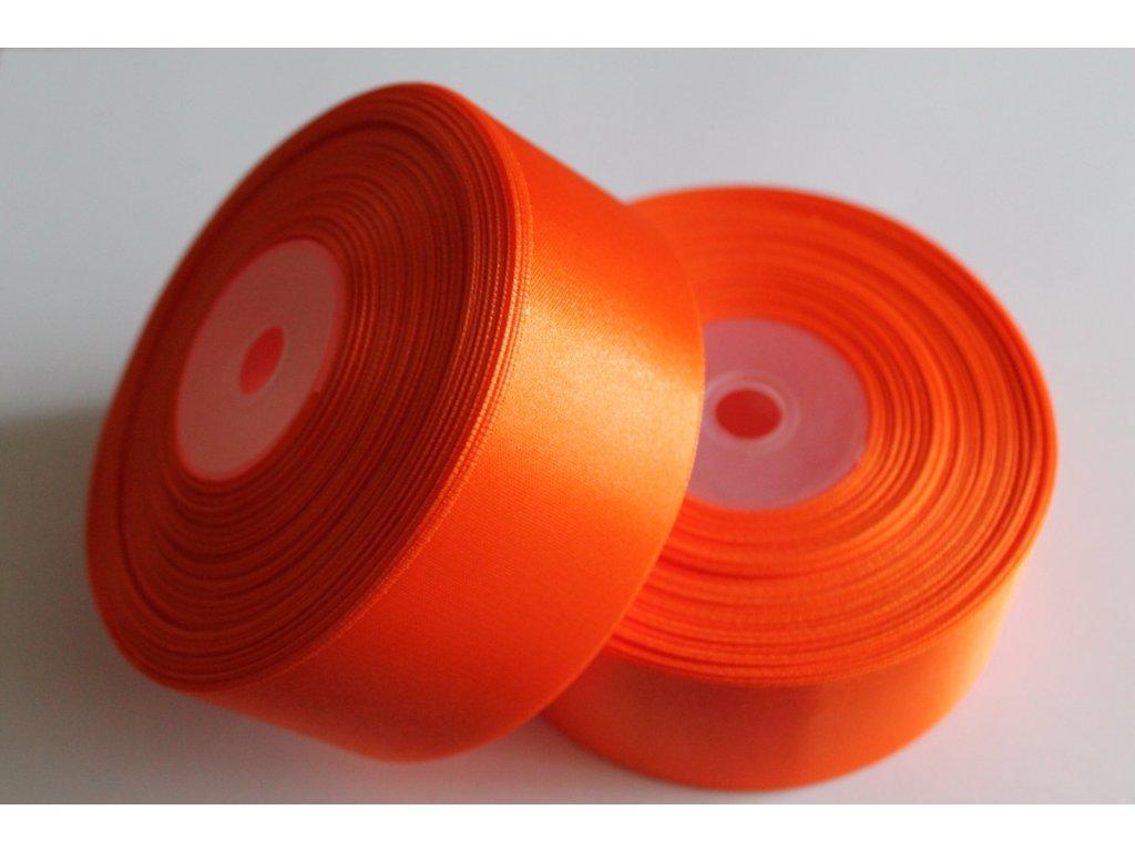 Saténová stuha 38mm A012 pomarančová