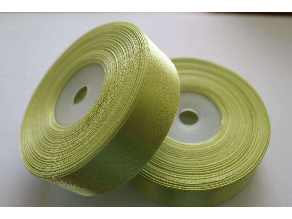 Saténová stuha 25mm A024 hrášková zelená