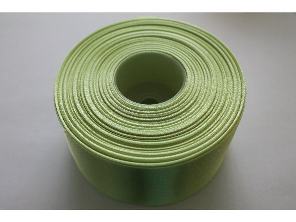 Saténová stuha 50mm A023 svetlá zelená