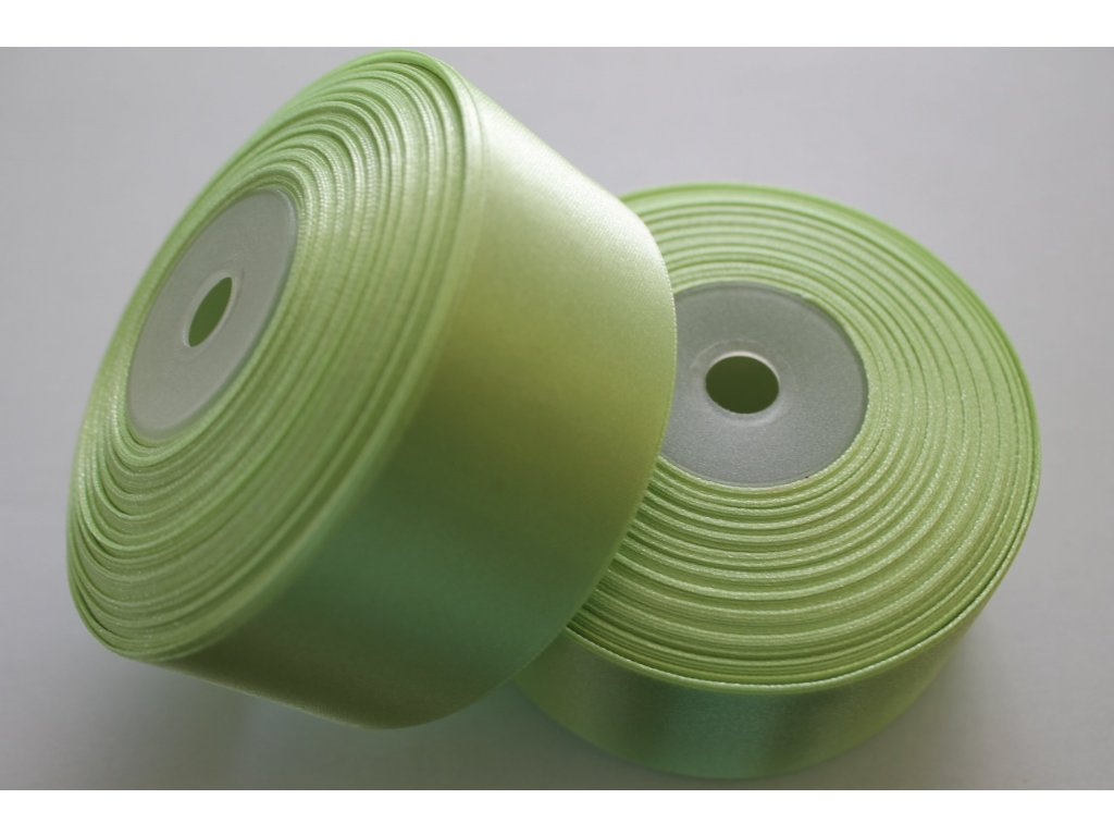 Saténová stuha 38mm A023 svetlá zelená