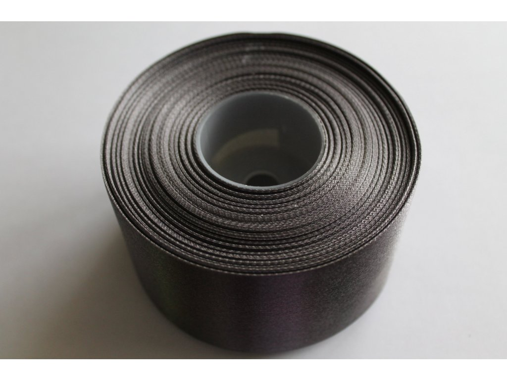 Saténová stuha 50mm A077 šedá