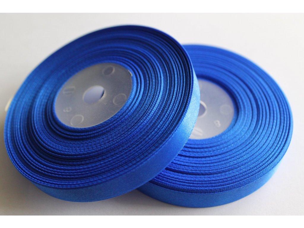Saténová stuha 12mm A031 elektrizujúca modrá