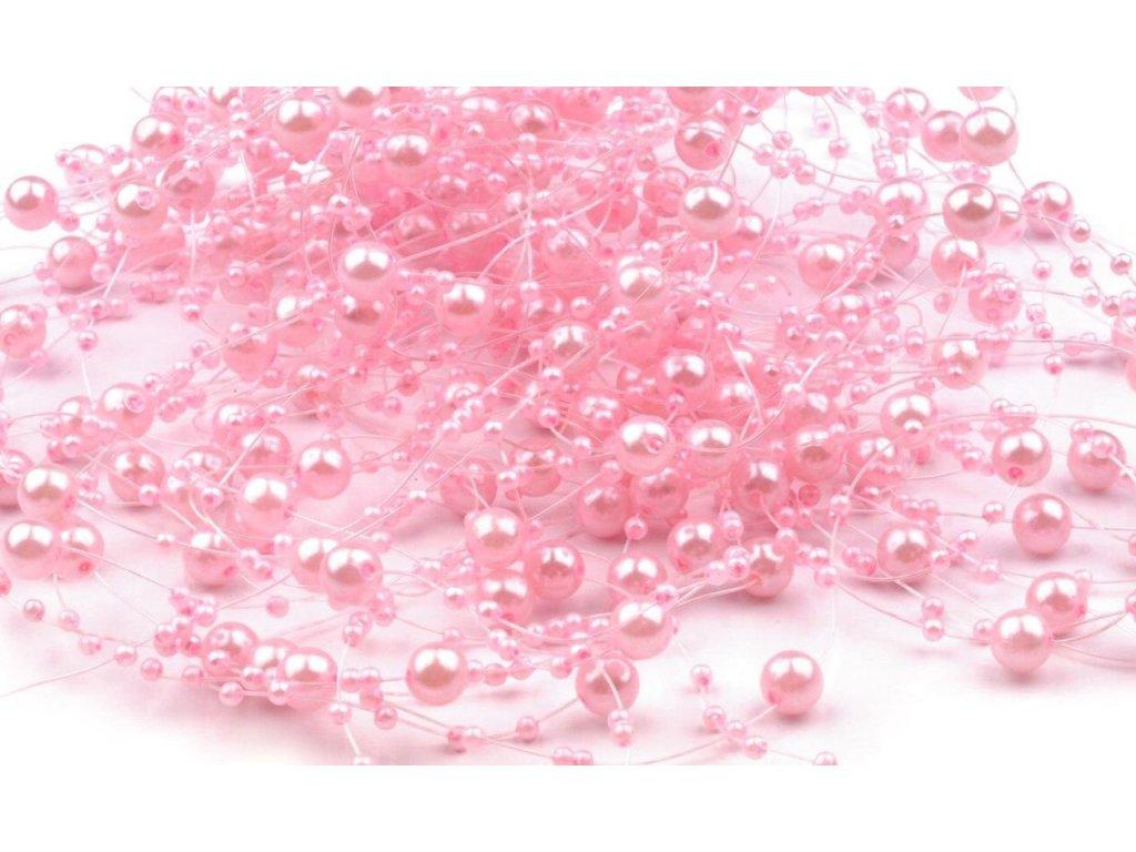 Girlanda 7mm/130cm baby ružová
