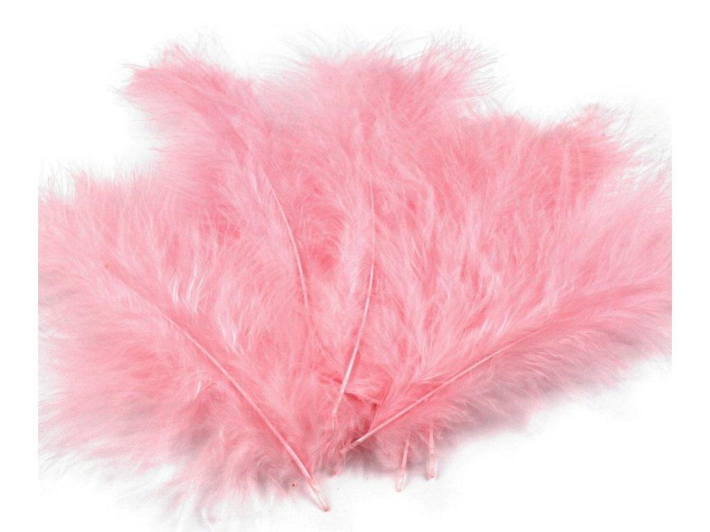 Dekoračné perie 15g svetlo ružové 040