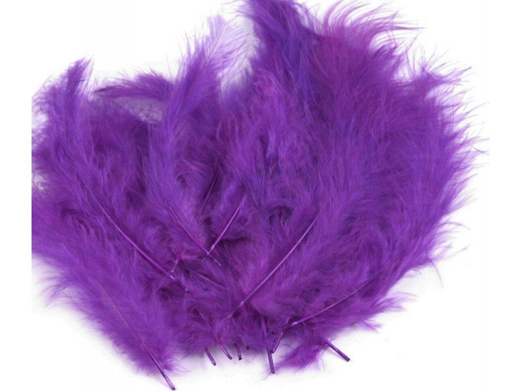 Dekoračné perie 15g tmavé fialové 070