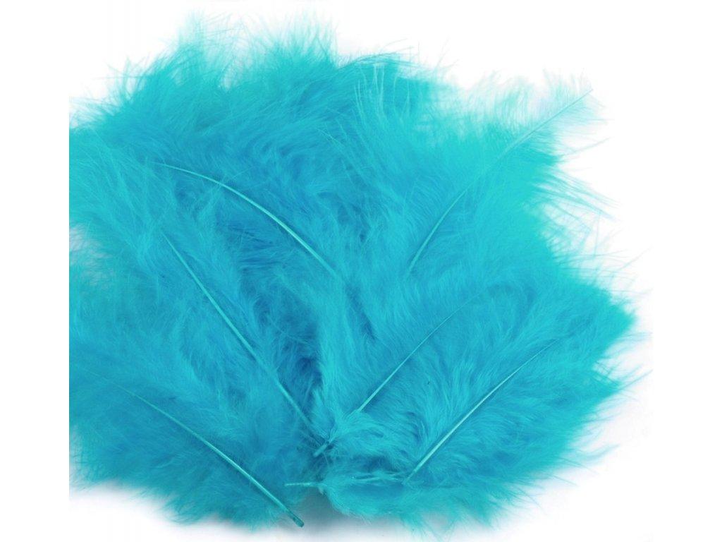 Dekoračné perie 15g tyrkysové 094