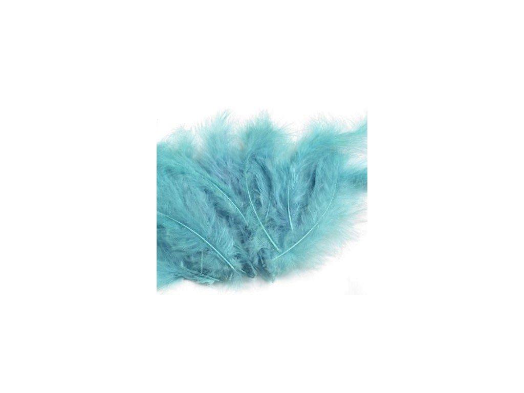 Dekoračné perie 15g svetlo modré 090
