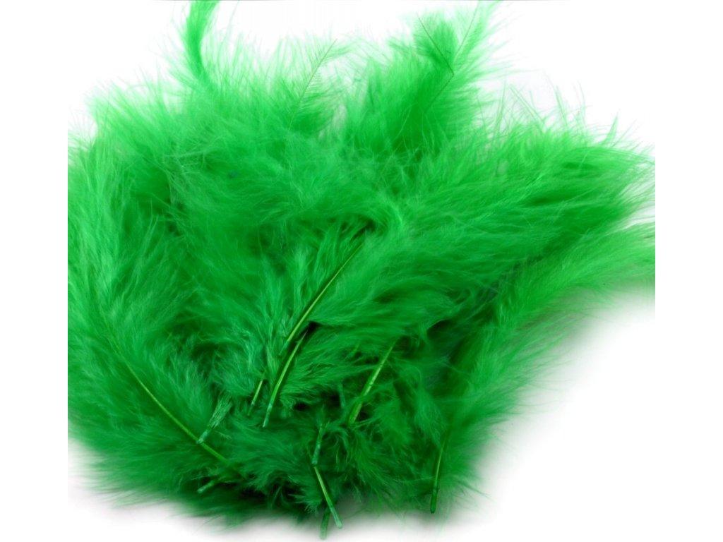 Dekoračné perie 15g trávovo zelené 084