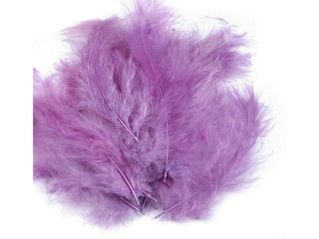 Dekoračné perie 15g svetlo fialové 075