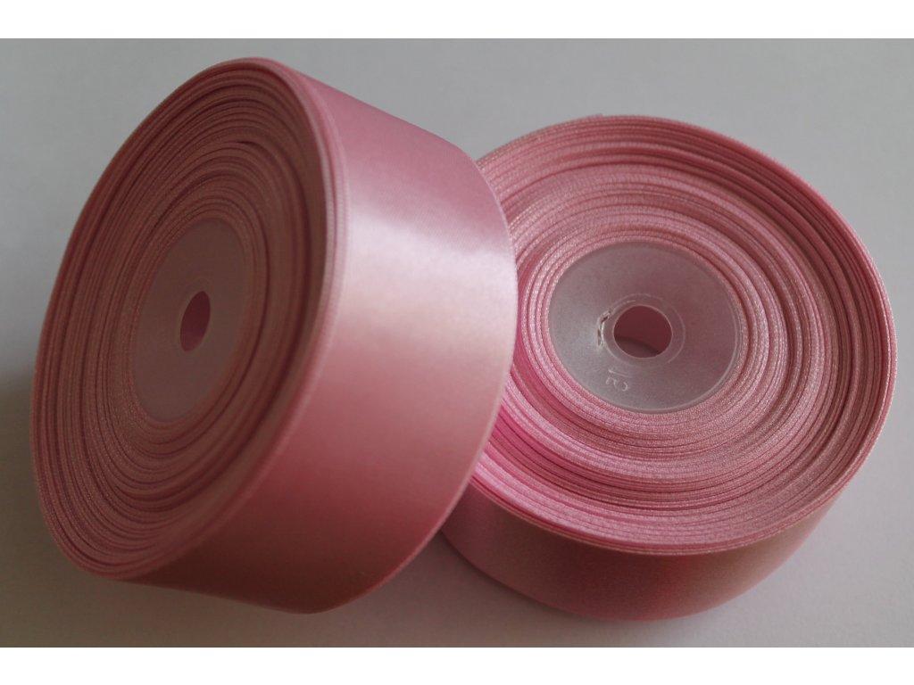 Saténová stuha 38mm A061 pastelová ružová