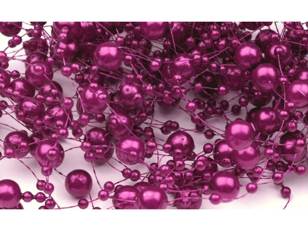 Girlanda 7mm/130cm purpurová