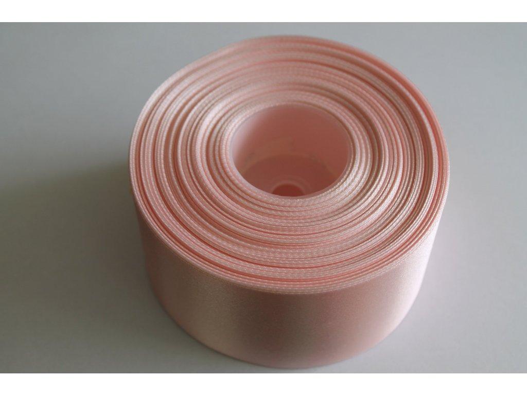 Saténová stuha 50mm A013 svetlá ružová
