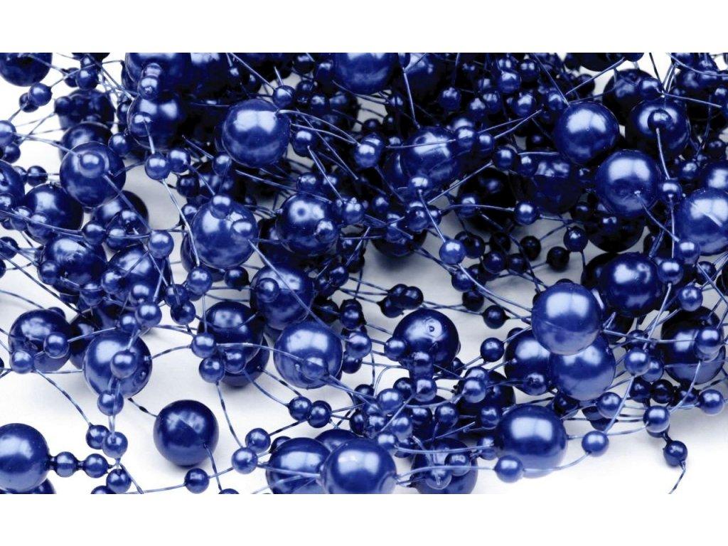 Girlanda 7mm/130cm kráľovská modrá