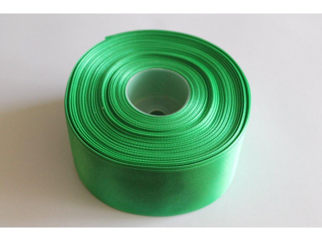 Saténová stuha 50mm A072 vianočná zelená