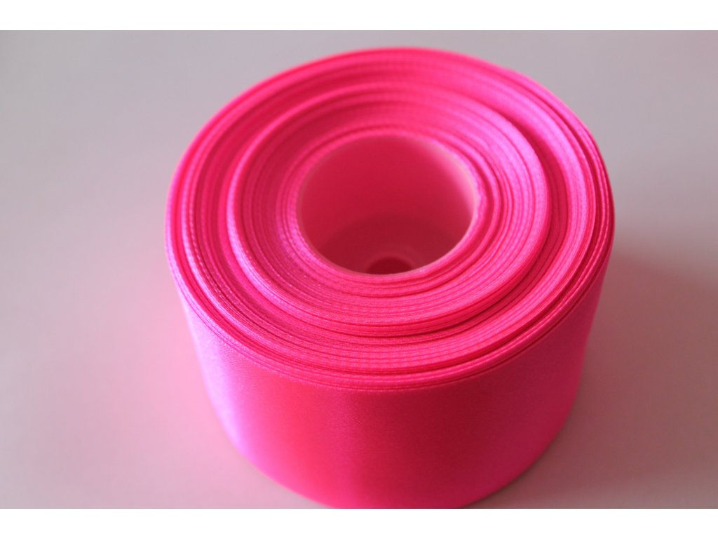 Saténová stuha 50mm A050 neónová ružová