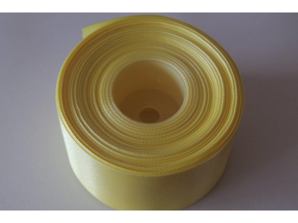 Saténová stuha 50mm A065 kanárska žltá