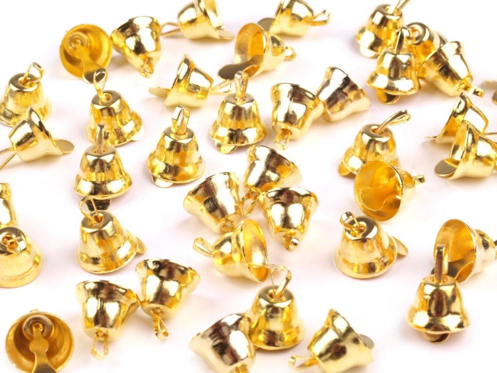 Zvonček zlatý 12x20mm
