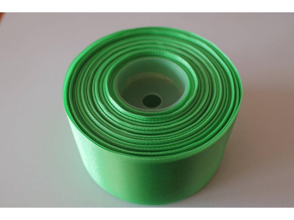 Saténová stuha 50mm A048 limetková zelená