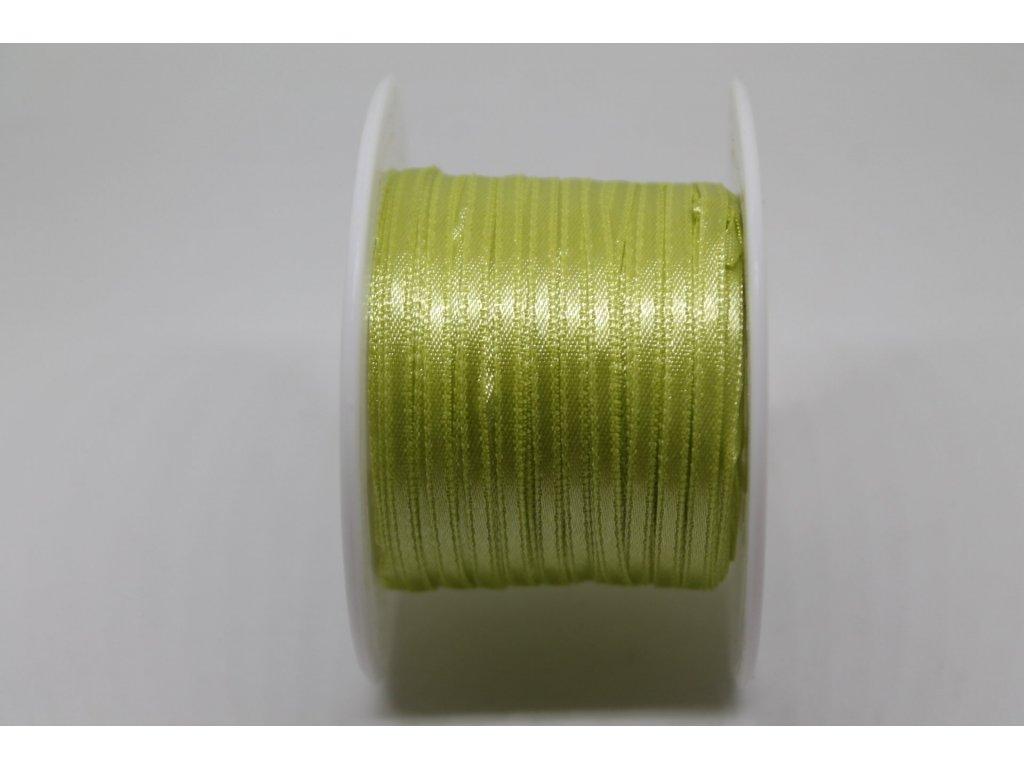 Saténová stuha 3,5mm A024 hrášková zelená