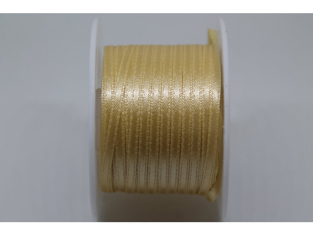 Saténová stuha 3,5mm A059 svetlá zlatá
