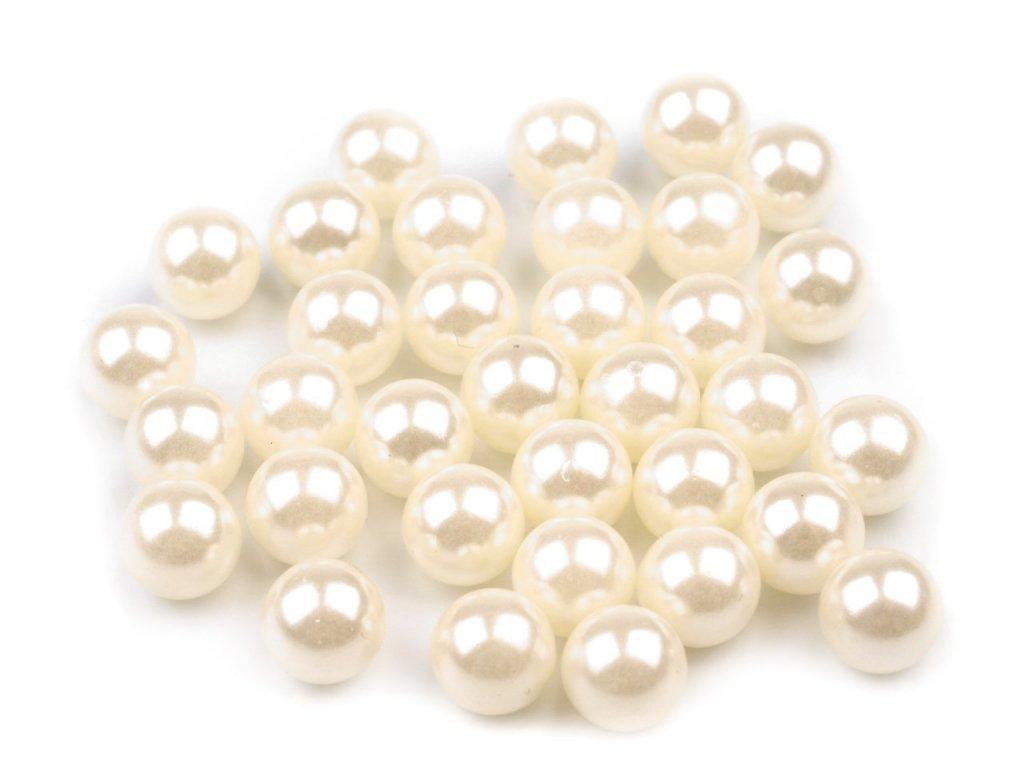 Plastové guličky 6mm/5g perlové