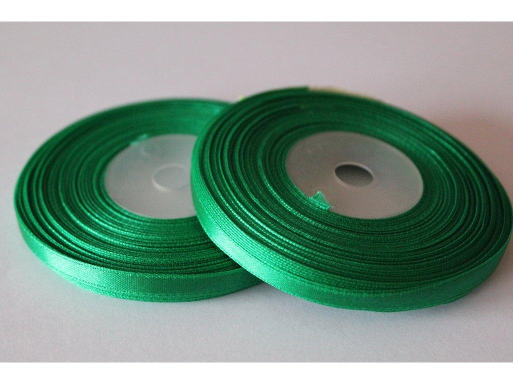Saténová stuha 6mm A072 vianočná zelená