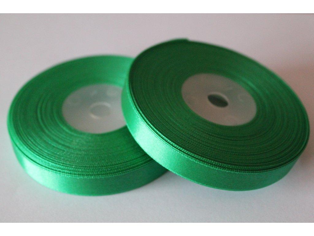 Saténová stuha 12mm A072 vianočná zelená
