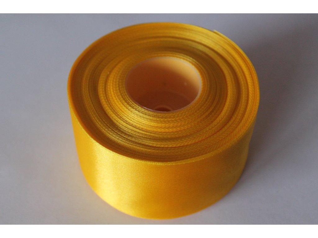 Saténová stuha 50mm A006 sýta žltá