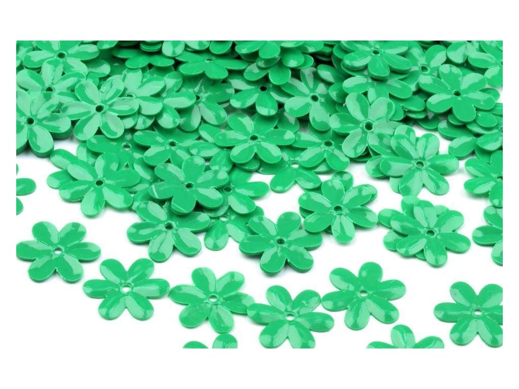 Flitre kvetinky zelené 15mm/5g