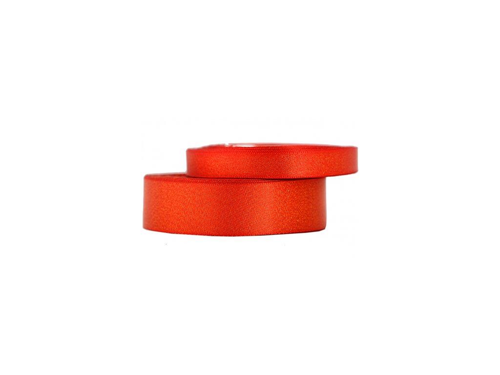 wstazka satynowa z brokatem 12mm 22mb j czerwona