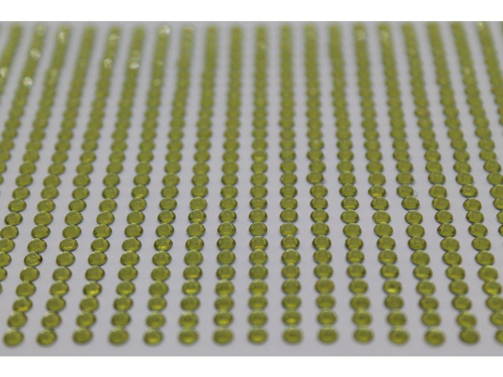Samolepiace kamienky 3 mm svetlo zelené