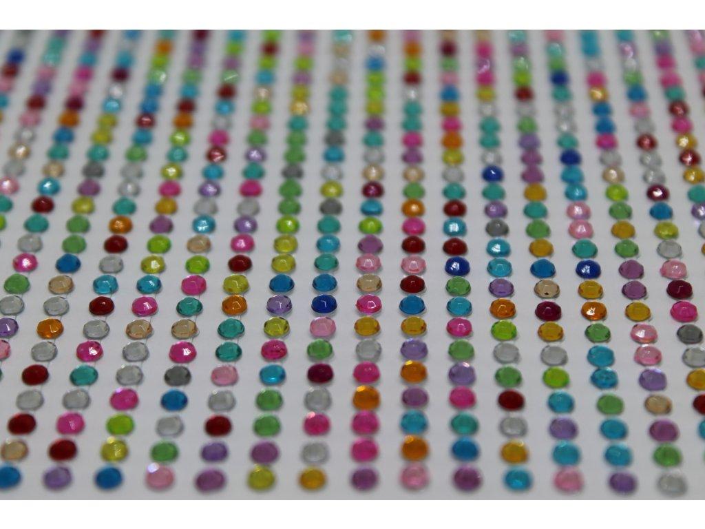 Samolepiace kamienky 3 mm mix farieb