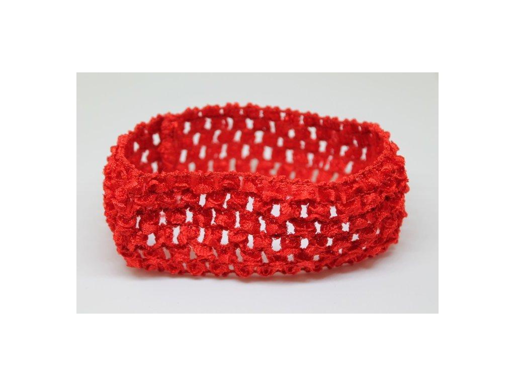 Čelenka pružná červená