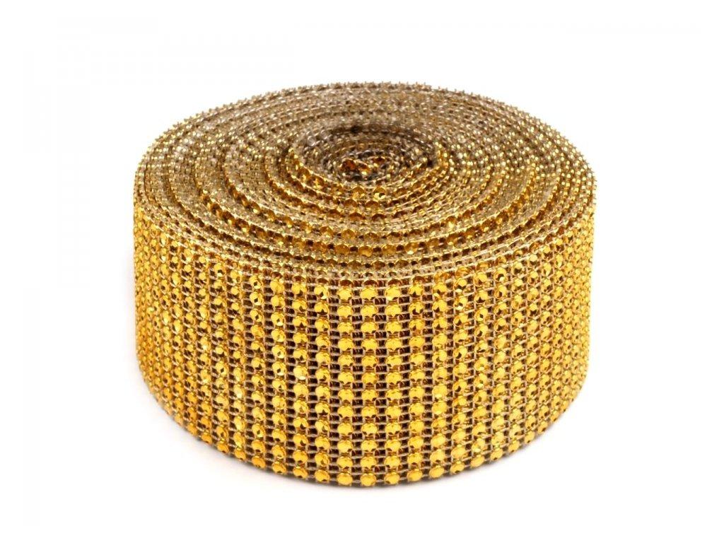 Diamantový pás 58mm zlatý